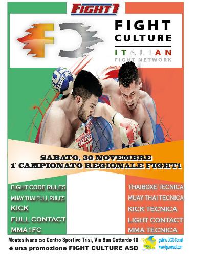 Primo campionato regionale fight1 abruzzo